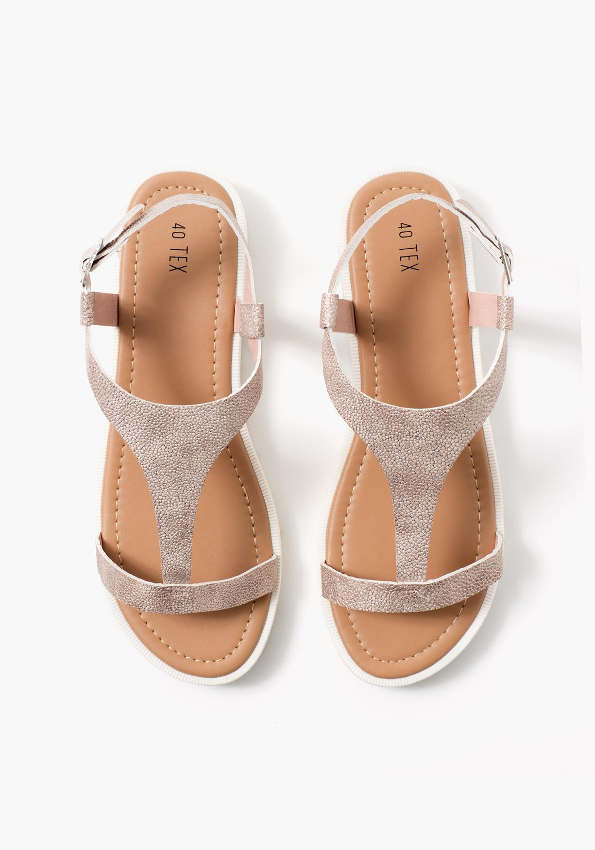 Sandalias brillantes TEX