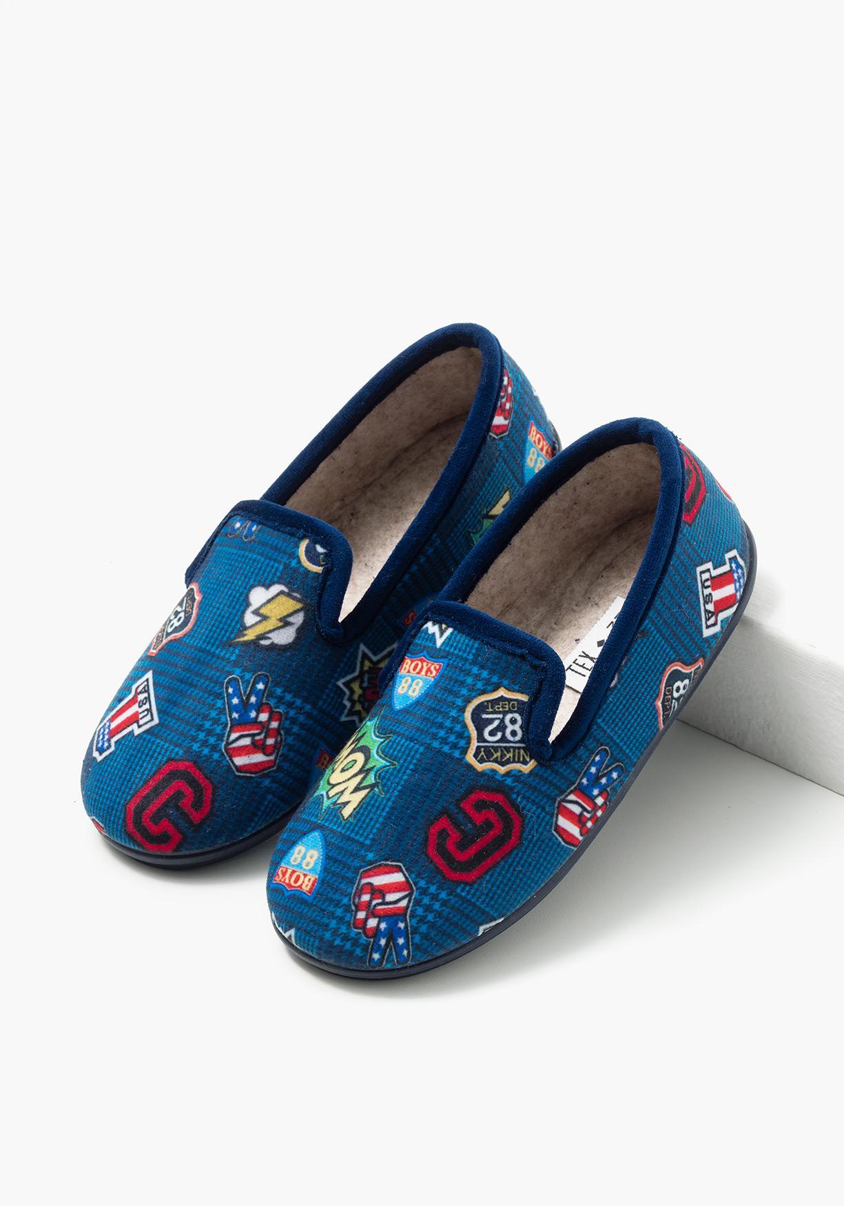 Comprar zapatillas de estar por casa estampadas tex tallas 31 a 39 aprov chate de nuestros - Zapatillas casa nino carrefour ...