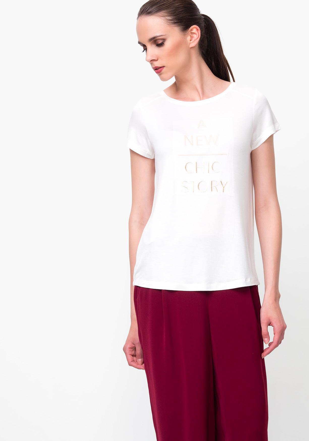 Comprar Camiseta de mujer con texto bordado TEX. ¡Aprovéchate de ... 56b29c4c5ce1