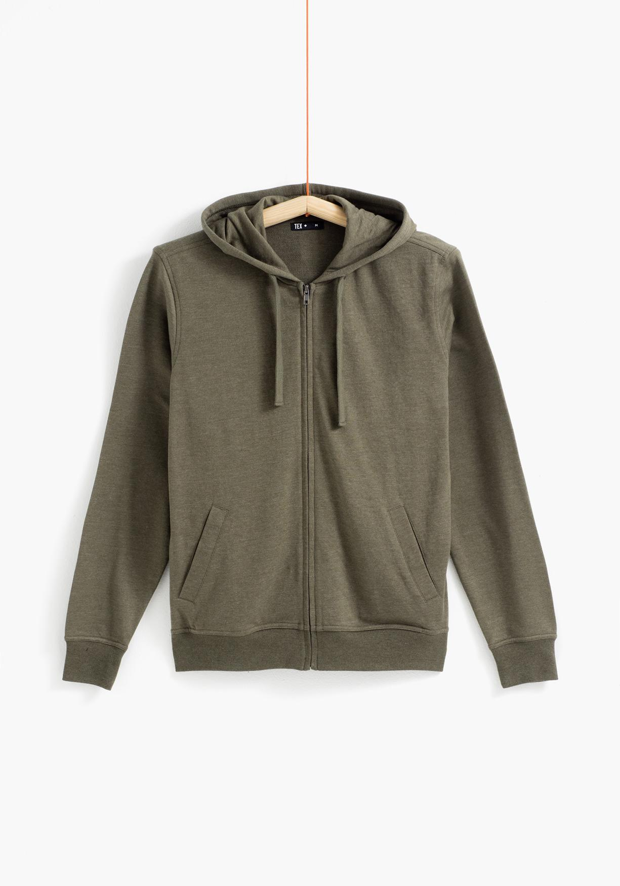 Sudadera lisa TEX