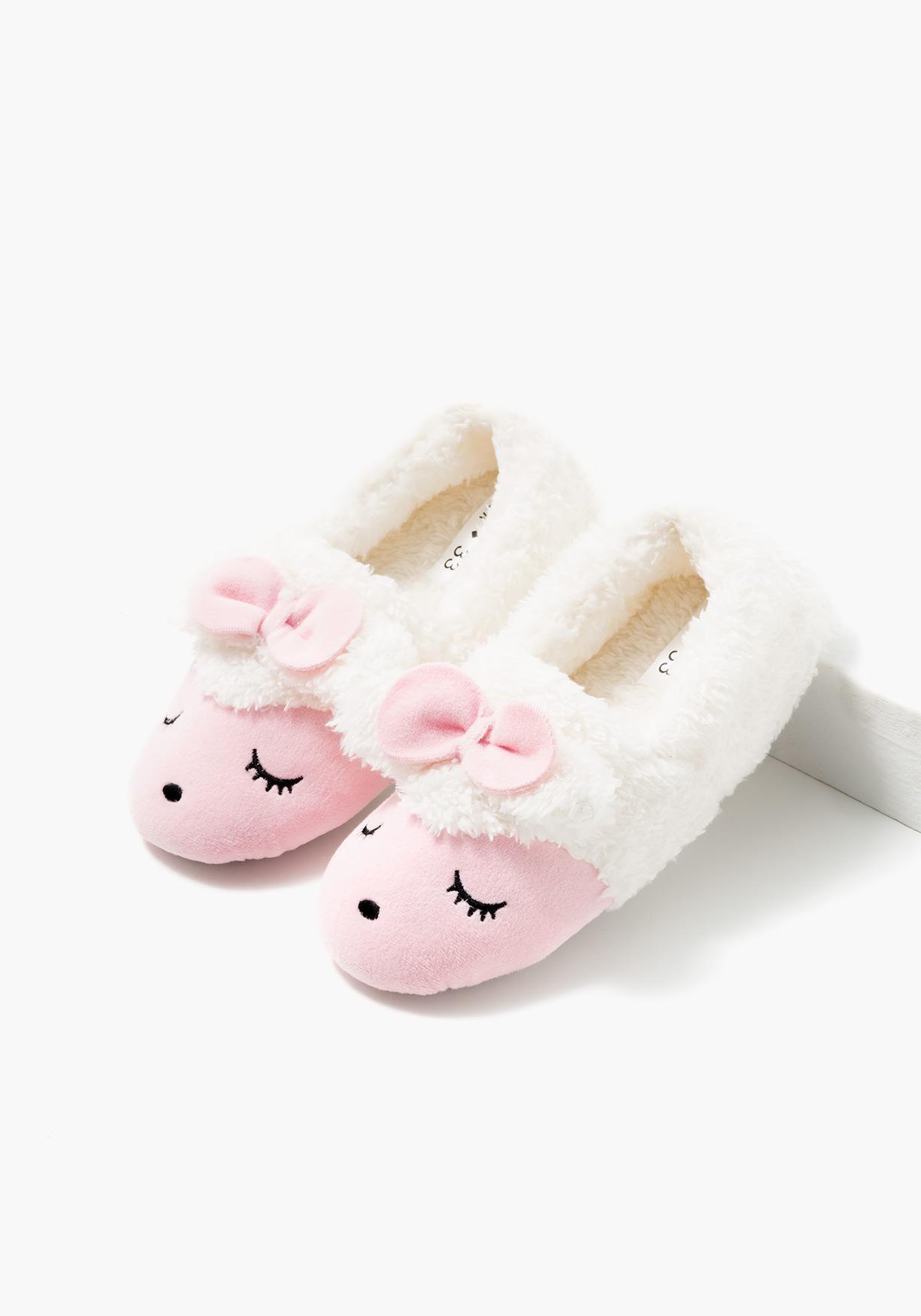 Zapatillas de estar por casa con carita de animal TEX Liquidación Classic Outlet más nuevo qySaS6qIm6