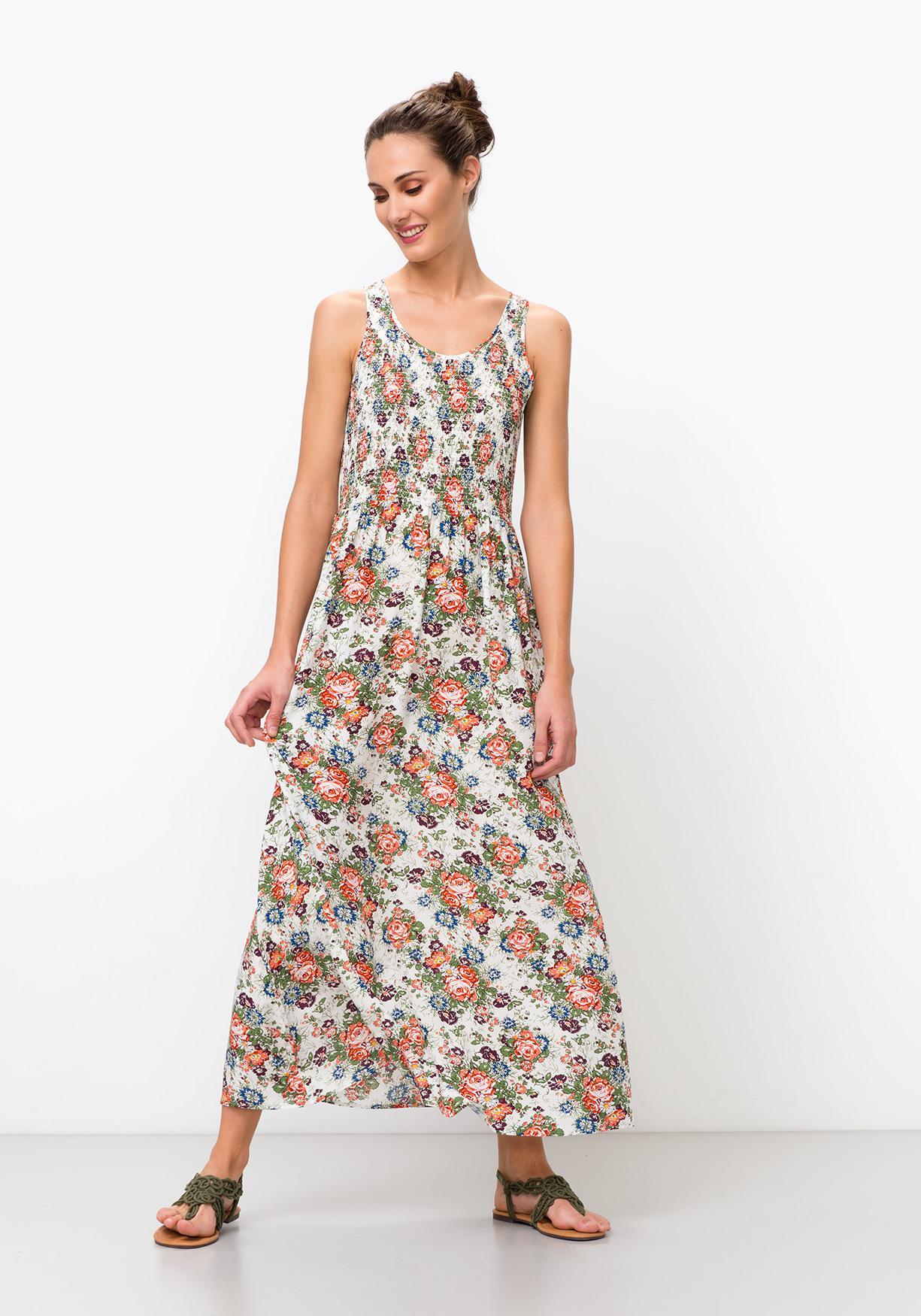 Comprar Vestido largo con estampado de flores TEX. ¡Aprovéchate de ... dcc7ace2104f