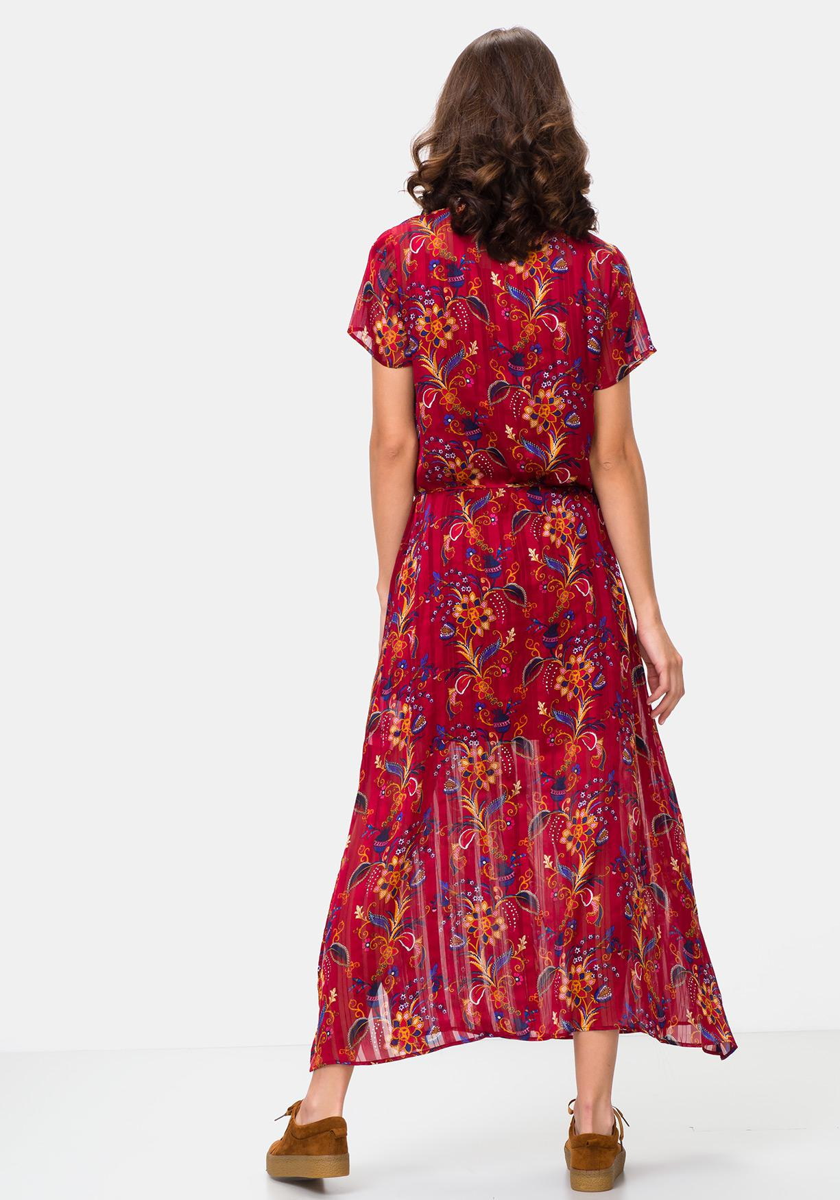 Comprar Vestido largo estampado TEX. ¡Aprovéchate de nuestros ... 1795d46771c6