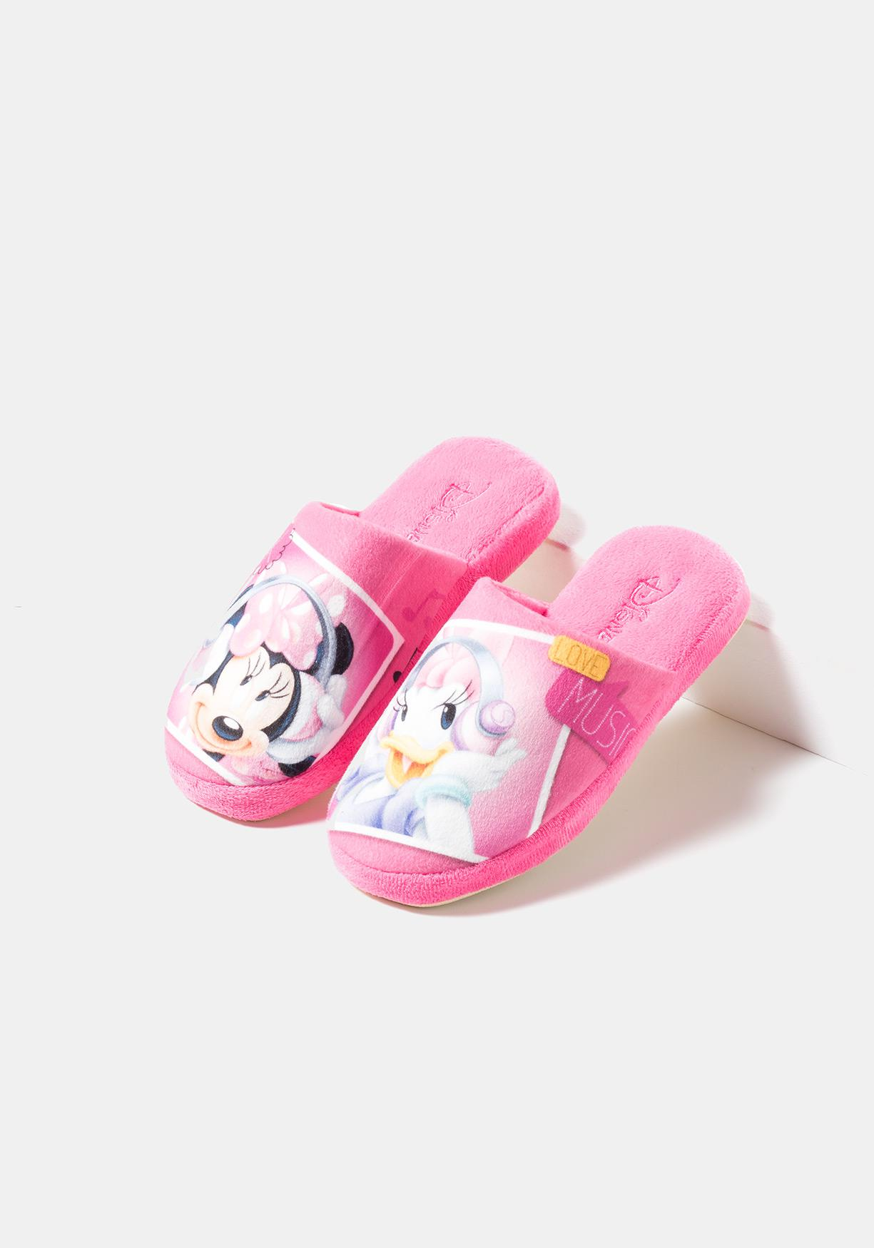 32b83006e9 Zapatillas de estar por casa Minnie y Daisy de DISNEY (Tallas 28-34)