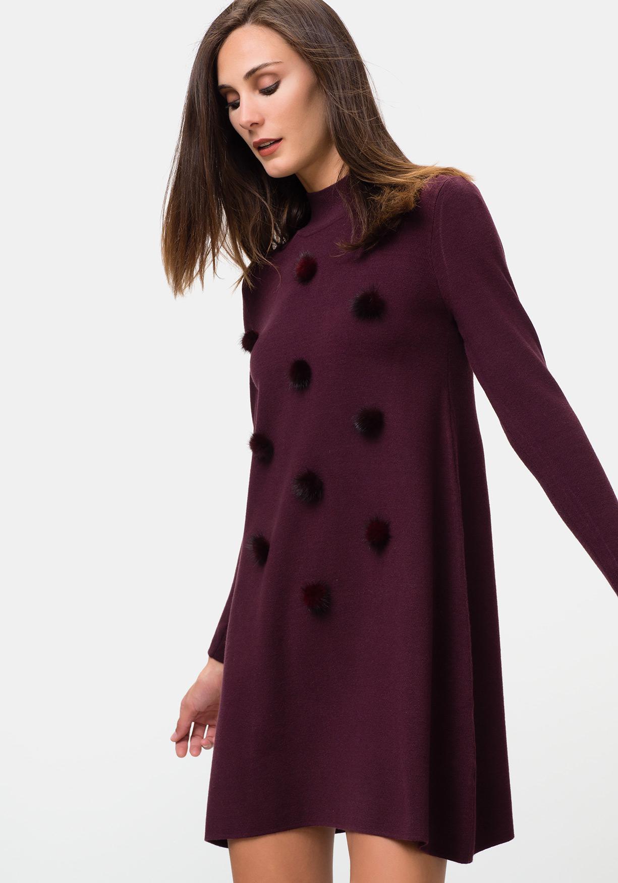 48d16ffe Comprar Vestido de punto con manga larga para mujer TEX ...