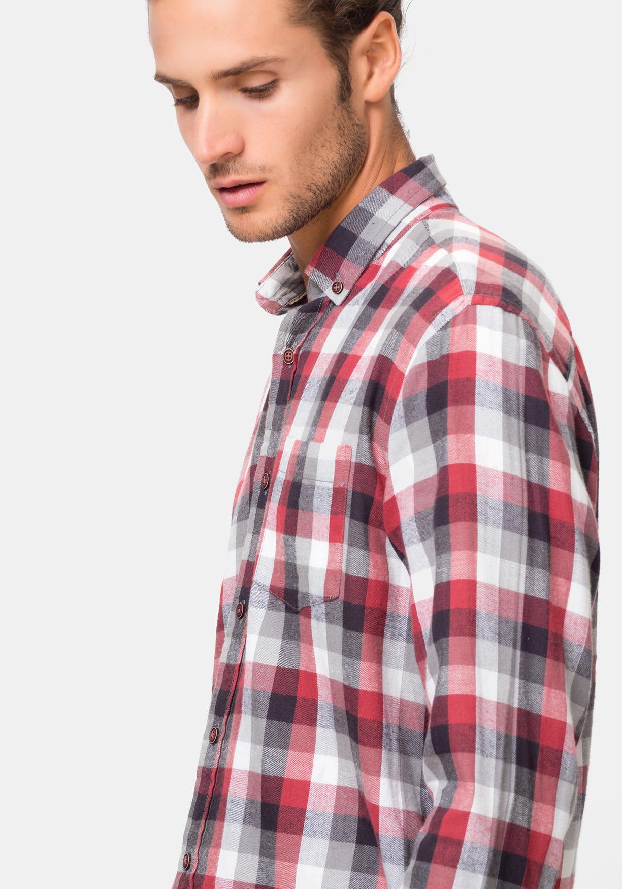 dc80de495f1 Comprar Camisa manga larga de cuadros TEX. ¡Aprovéchate de nuestros ...