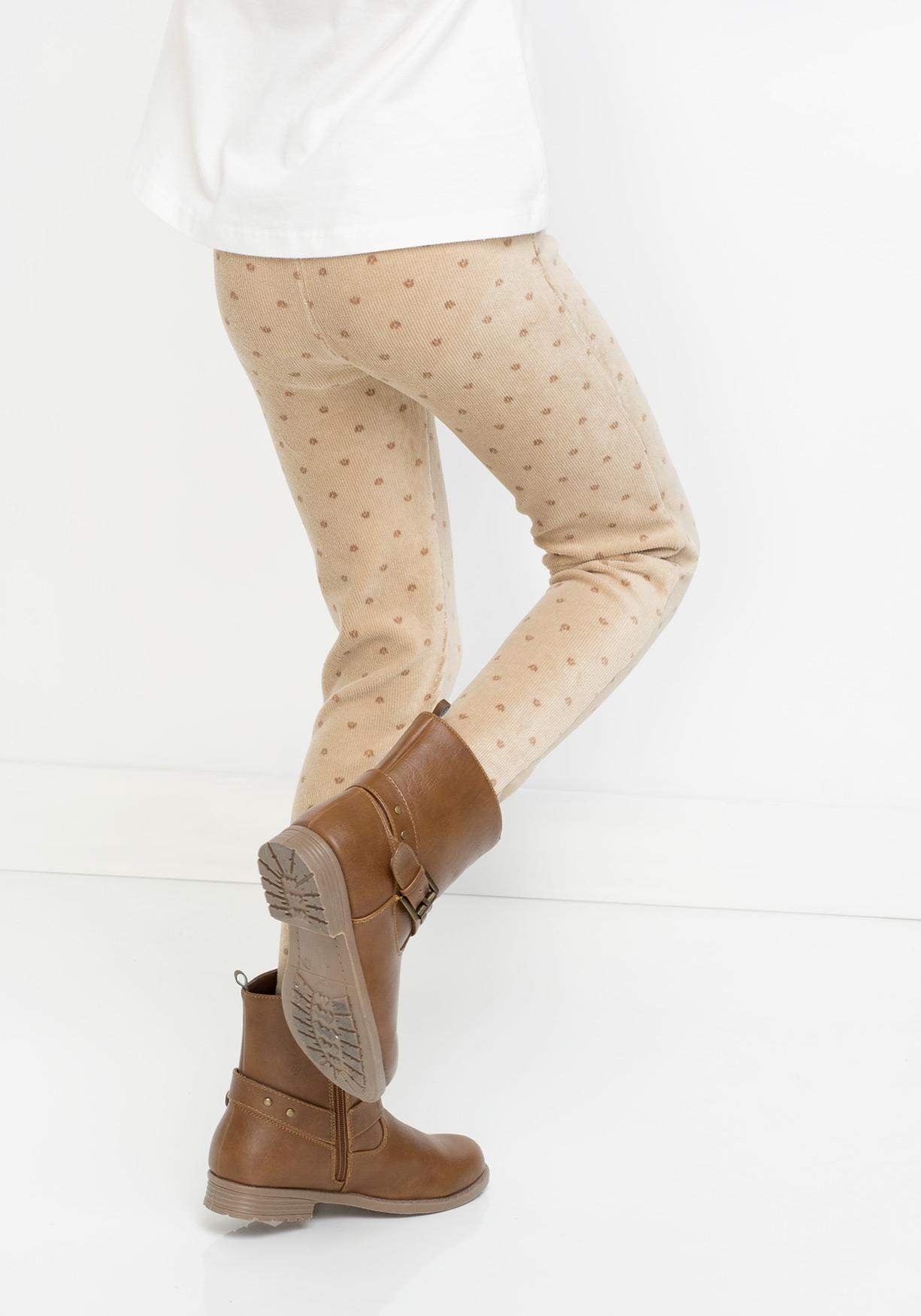 Legging de pana estampado TEX