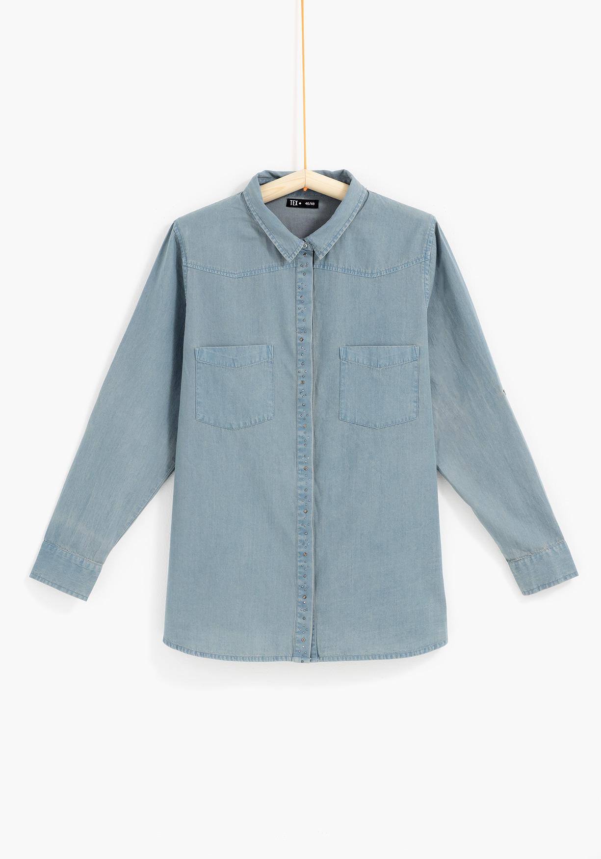 0acc756bc7 Comprar Camisa vaquera para tallas grandes TEX. ¡Aprovéchate de ...