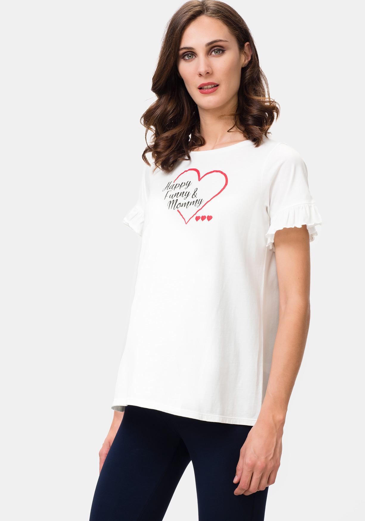b0156e9f3762 Comprar Camiseta premamá de manga corta estampada TEX. ¡Aprovéchate ...