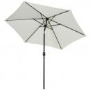 260cm crema mitad paraguas balcón paraguas Alu-sombrilla semicircular Lorca UV 50