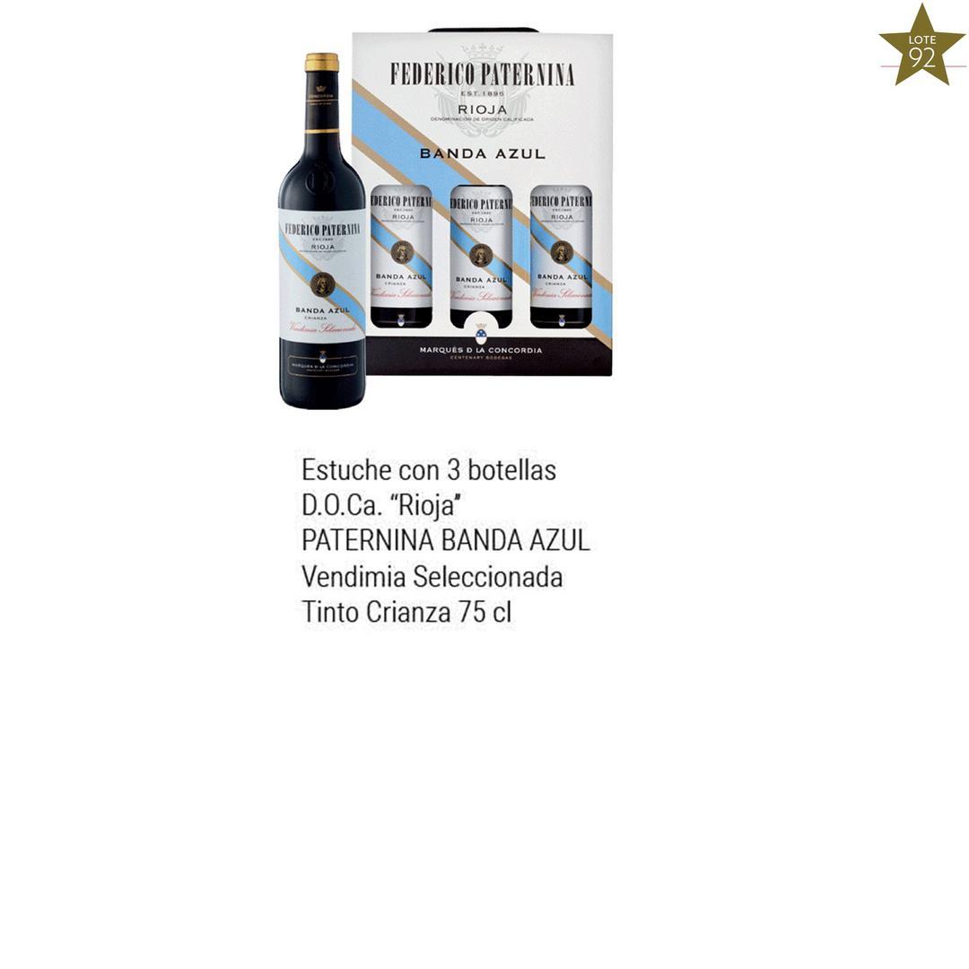 Estuche 3 Bot Banda Azul Tinto 2017 Comprar Vino Online Tienda De Vinos Carrefour Es