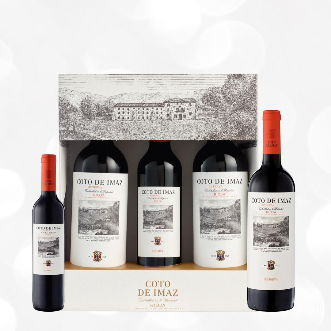 Estuche 2 Bot 75 Cl 1 Bot 50 Cl Coto De Imaz Tinto Reserva 2015 Comprar Vino Online Tienda De Vinos Carrefour Es