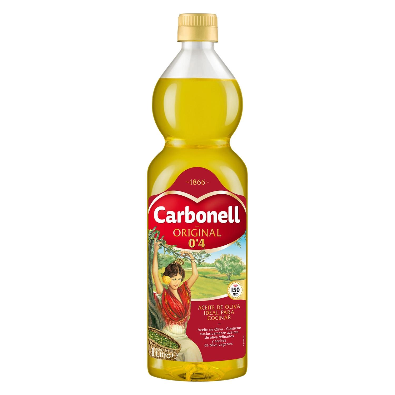 Aceite de oliva Carbonell suave 0,4º 1 l.