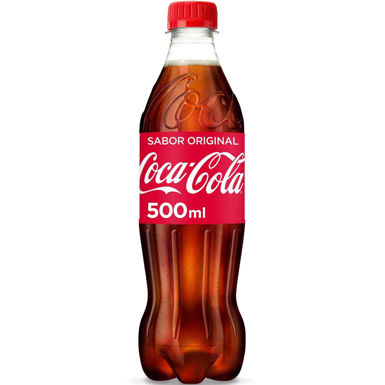 Refresco de cola Coca Cola botella 50 cl.