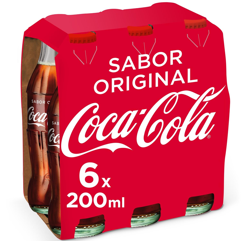 Refresco de cola Coca Cola pack de 6 botellas de 20 cl.