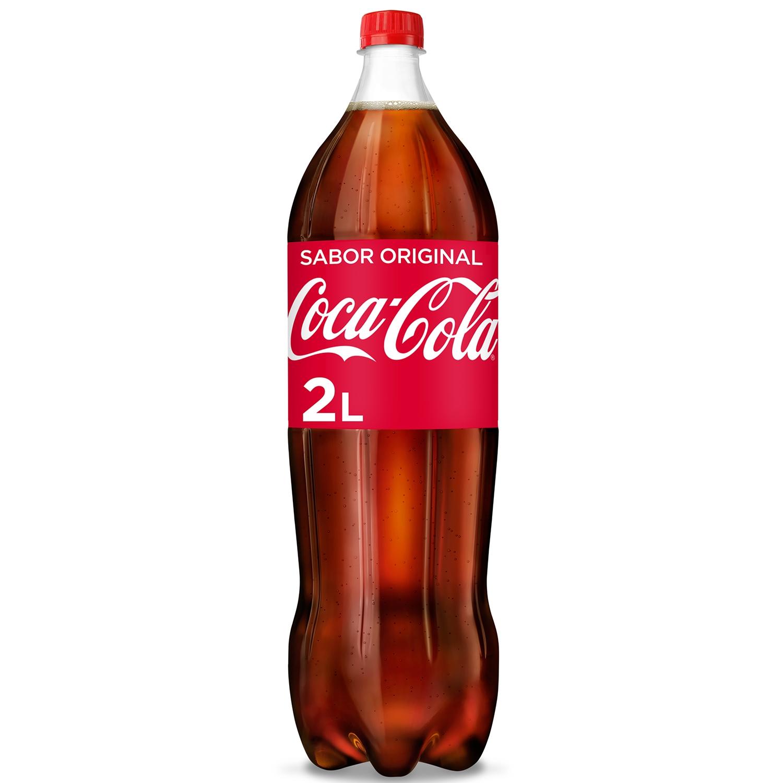 Refresco de cola Coca Cola botella 2 l.