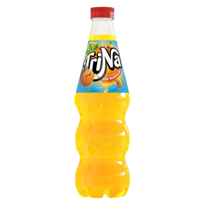 Refresco de naranja Trina sin gas botella 1,5 l.