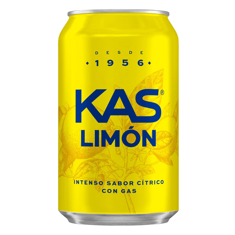 Refresco de limón Kas con gas lata 33 cl.