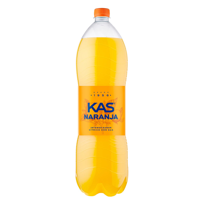 Refresco de naranja Kas con gas botella 2 l.