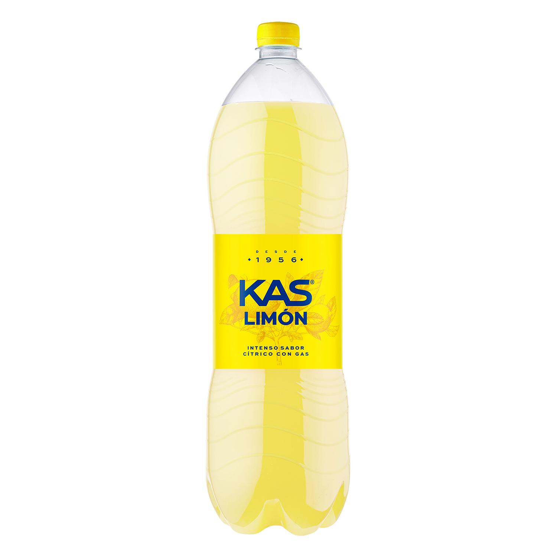 Refresco de limón Kas con gas botella 2 l.