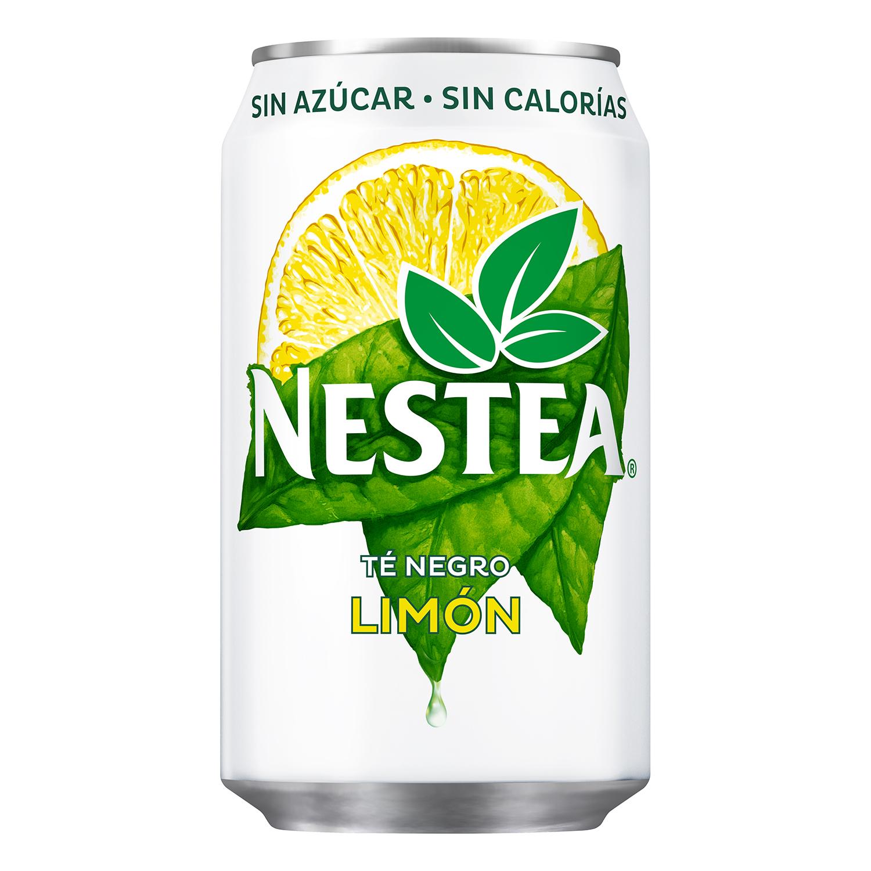 Refresco de té Nestea sin azúcar sabor limón lata 33 cl.