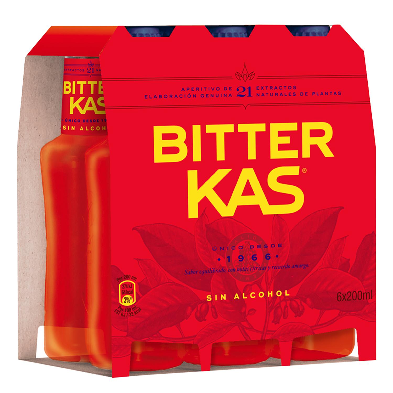 Bitter Kas sin alcohol pack de 6 botellas de 20 cl.