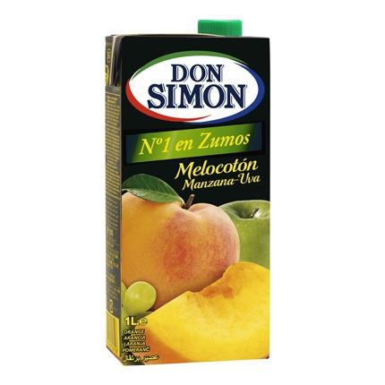 Zumo de malocotón, manzana y uva Don Simón brik 1 l.
