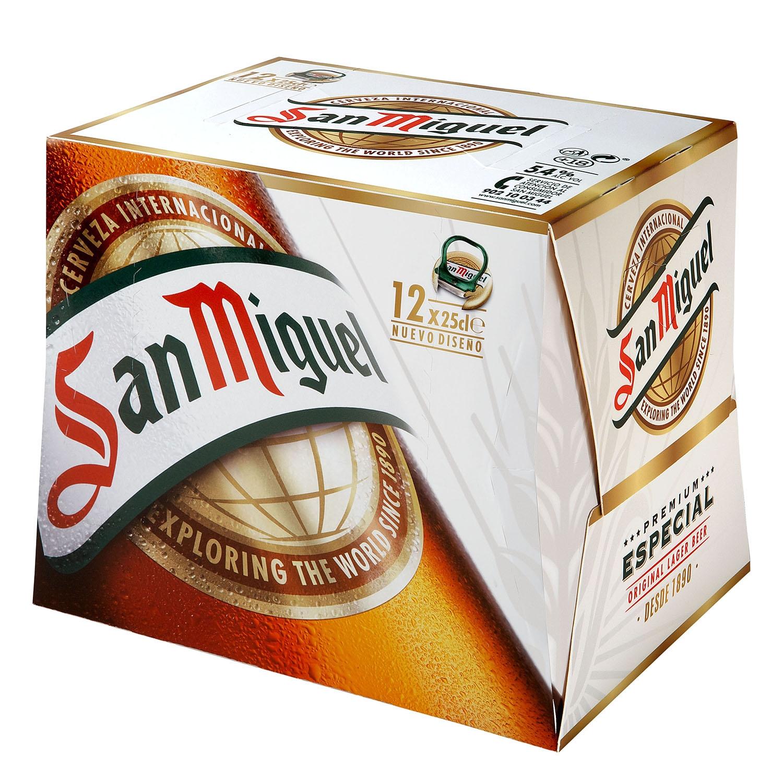 Cerveza San Miguel especial Lager pack de 12 botellas de 25 cl.