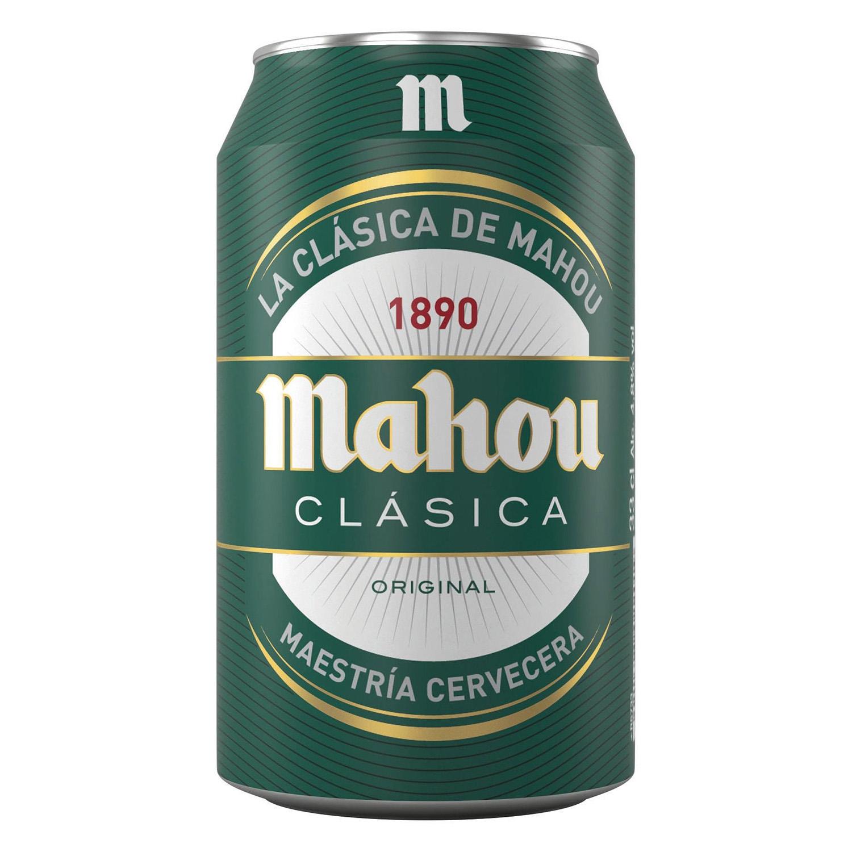 Cerveza Mahou Clásica lata 33 cl.