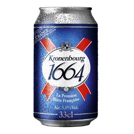 Cerveza Kronenbourg lata 33 cl.