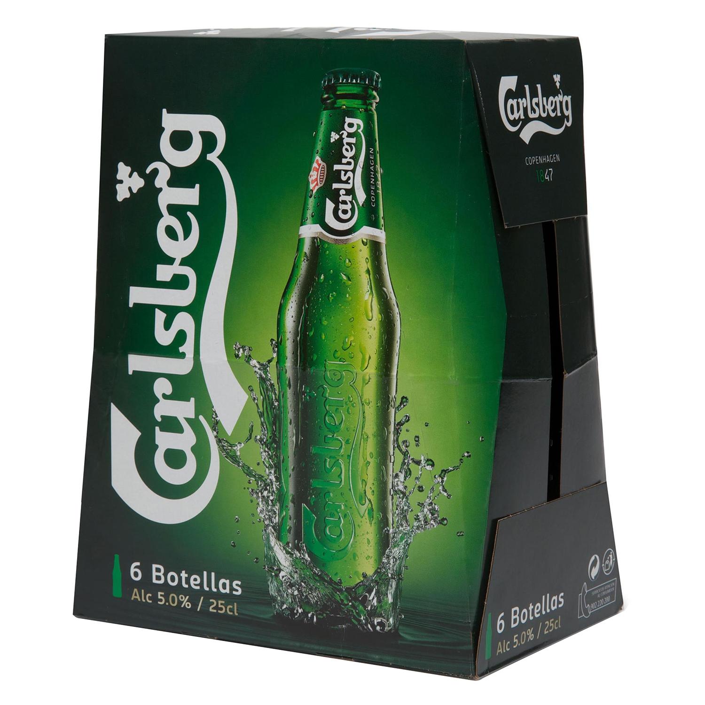 Cerveza Carlsberg pack de 6 botellas