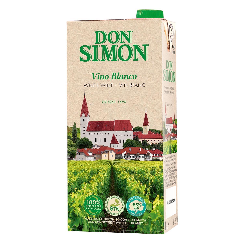 Vino blanco de mesa Don Simón 1 l.