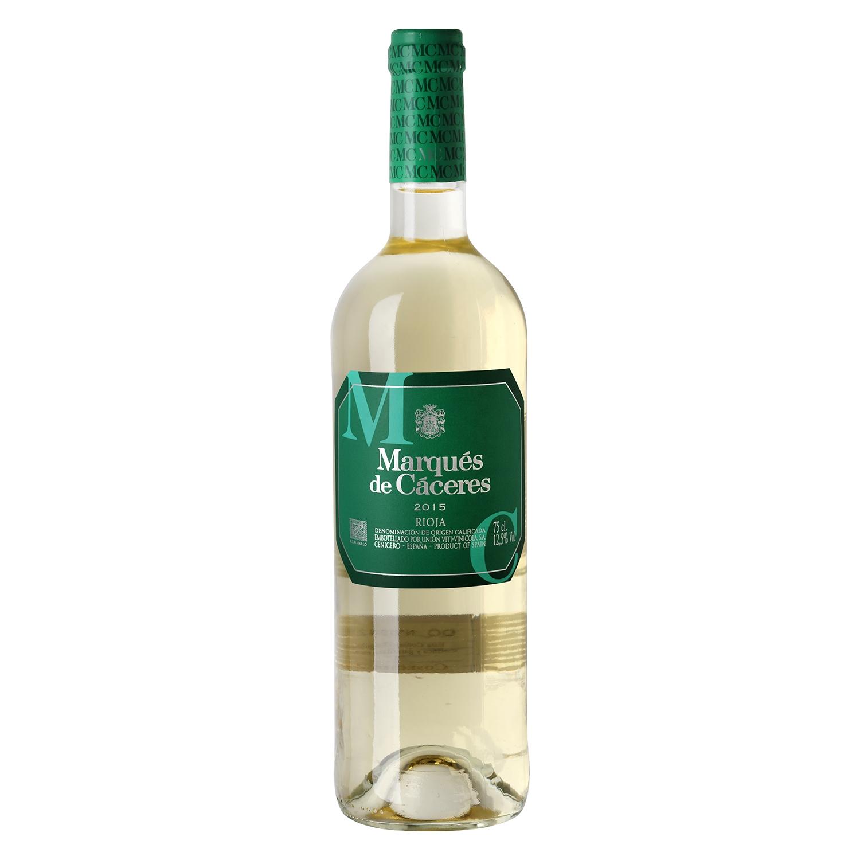 Vino D.O. Rioja blanco Marqués de Cáceres 75 cl.