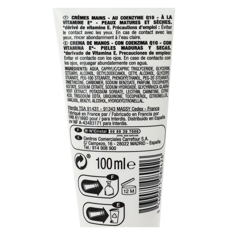 Crema de manos antiedad Q10 Carrefour 100 ml. -