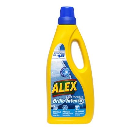 Cera Incolora Autobrillante para terrazo y baldosas Alex 750 ml.