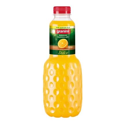 Zumo de naranja Granini dulce botella 1 l.
