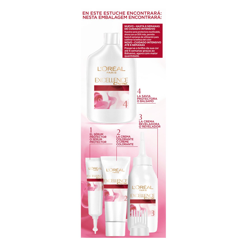 Tinte creme nº 4 Castaño L'Oréal Excellence 1 ud. -