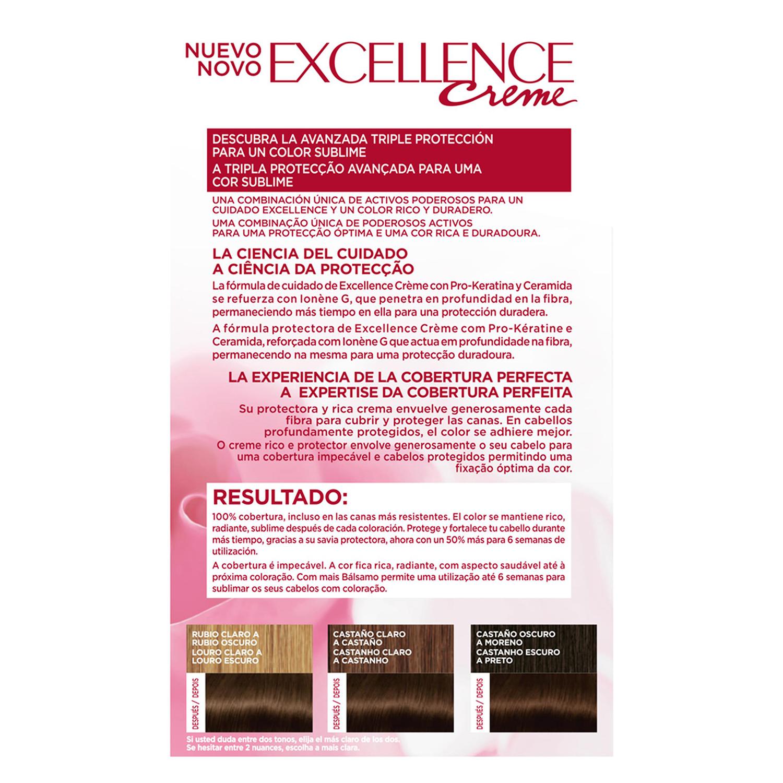 Tinte creme nº 4 Castaño L'Oréal Excellence 1 ud. - 2