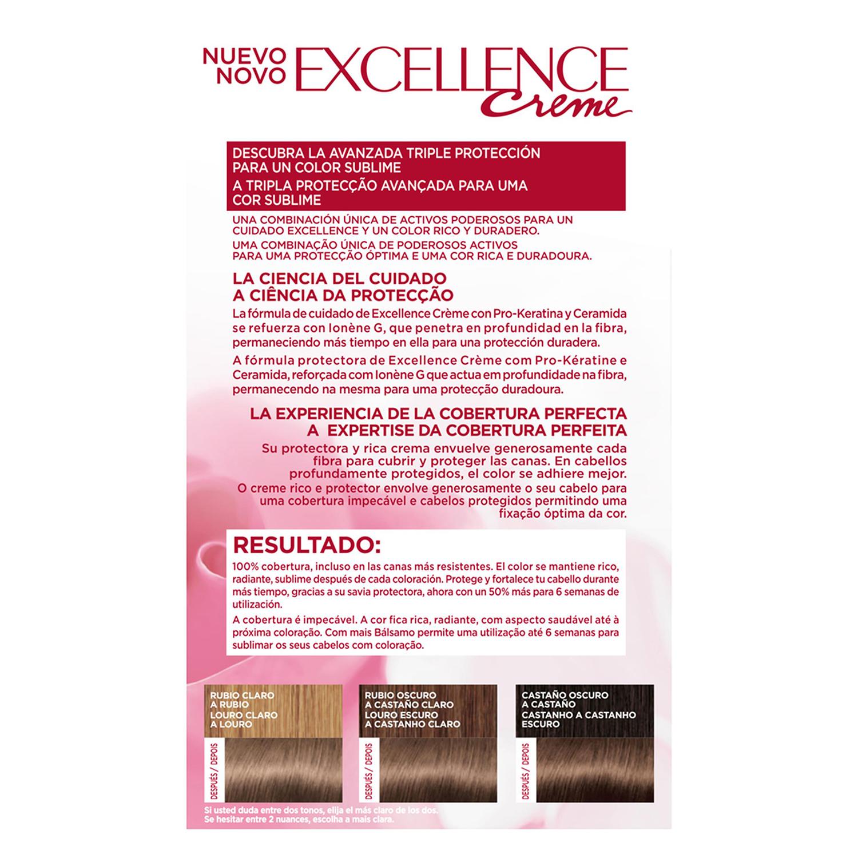 Tinte creme nº 6.1 Rubio Oscuro Ceniza L'Oréal Excellence 1 ud. - 2