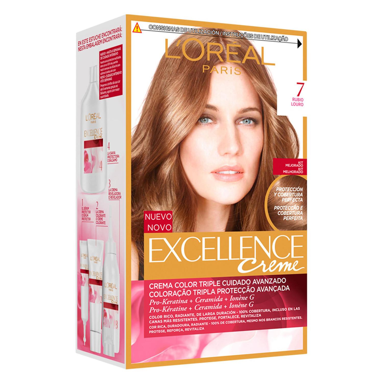 Tinte creme nº 7 Rubio L'Oréal Excellence 1 ud.