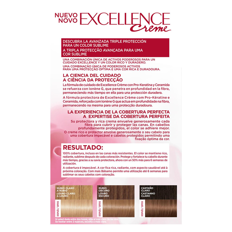 Tinte creme nº 9.1 Rubio Claro Claro Ceniza L'Oréal Excellence 1 ud. - 2