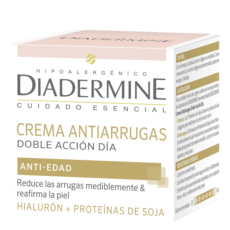 Crema facial antiarrugas doble acción Diadermine 50 ml.