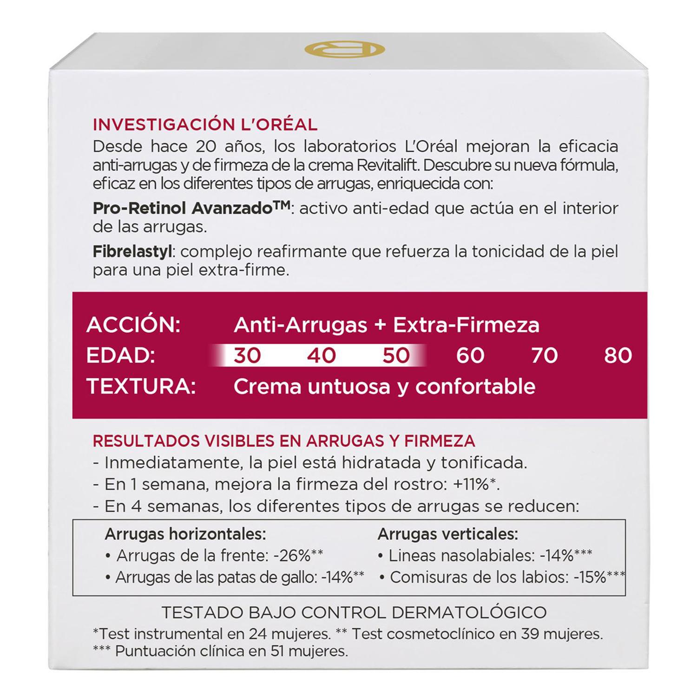 Crema de día antiarrugas + firmeza L'Oréal-Revitalift 50 ml. - 2