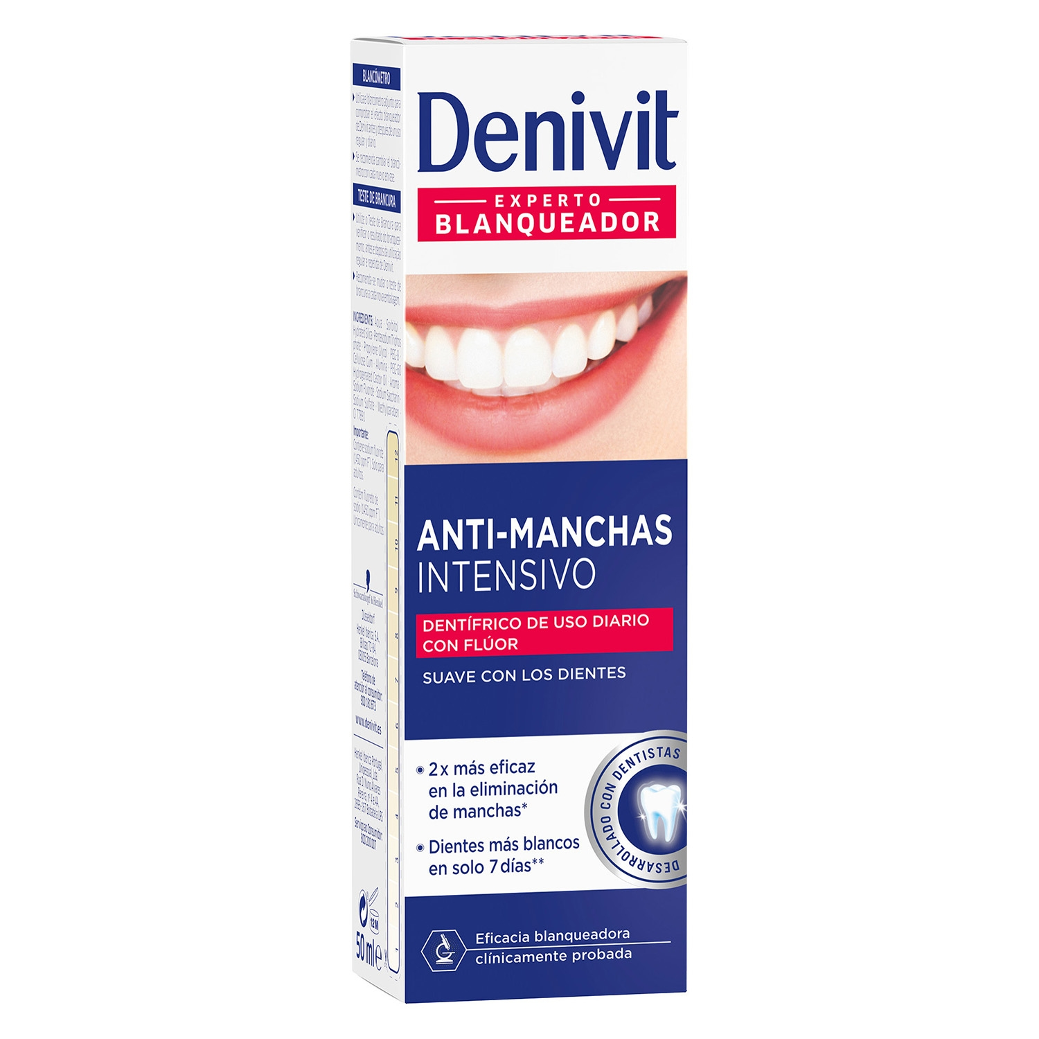 Dentífrico anti-manchas Denivit 50 ml.
