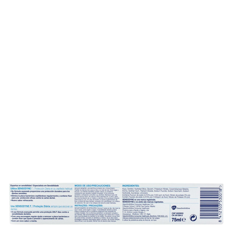 Dentífrico para dientes sensibles Protección Diaria Sensodyne 75 ml. - 3
