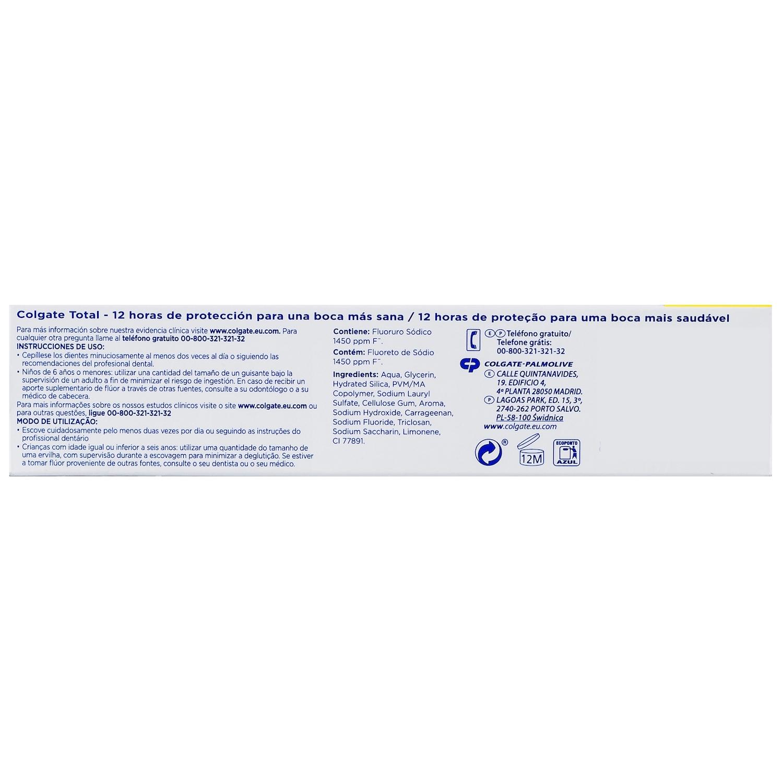 Dentífrico Protección Antibacteriana Total Original - 2