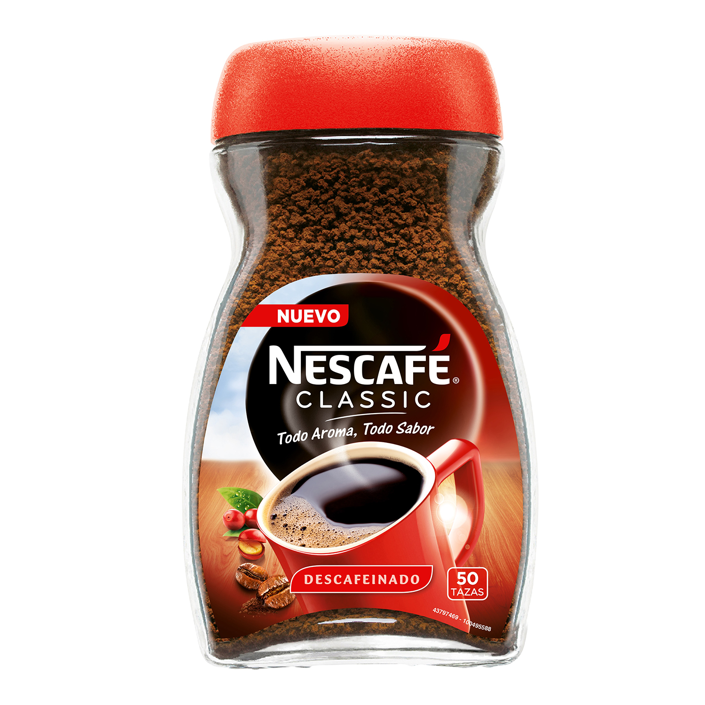 Café soluble descafeinado classic Nescafé 100 g.