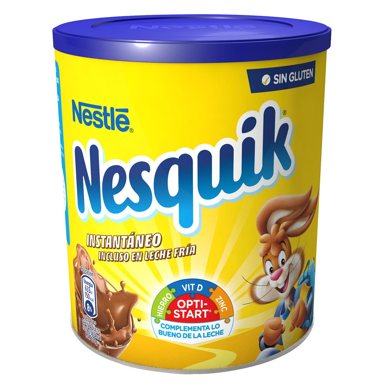 Cacao soluble instantáneo Nestlé Nesquik sin gluten 800 g.