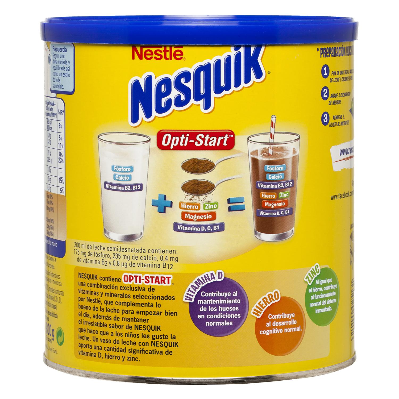 Cacao soluble instantáneo Nestlé Nesquik sin gluten 800 g. -
