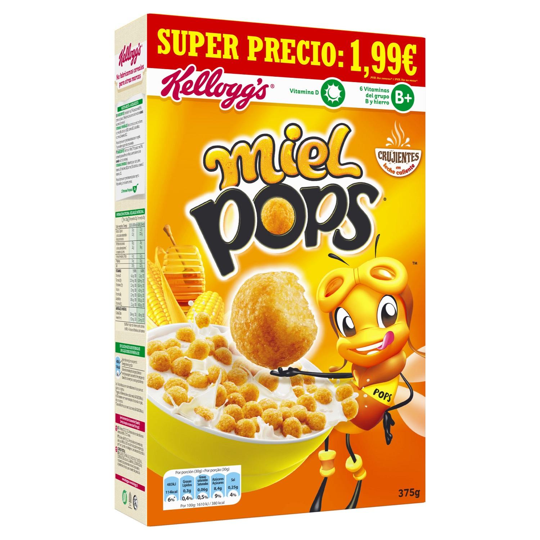 Cereales de maíz con miel Pops Kellogg's 375 g.